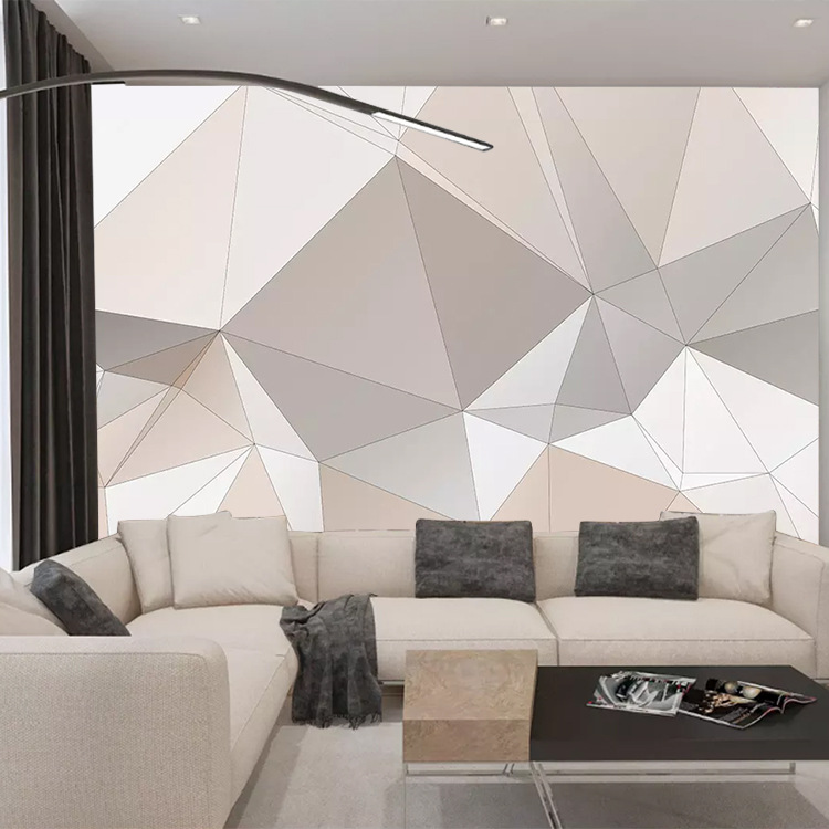 Minimalist Modern Northern European-Style Art Wallpaper 3D Geometric Graph Mural Living Room Bedroom Sofa TV Backdrop Wallpaper