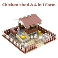 Farm Chicken House MOC Compatible Major Brand Toys Building Block Classic Collections Assembled Brick Handmade Design