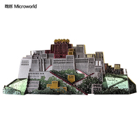 Microworld Potala Palace 3D Metal Puzzle DIY Assemble Model Kits Laser Cut Jigsaw Toys J059