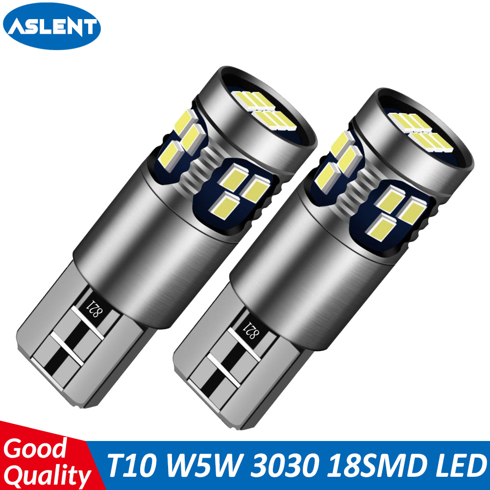 ASLENT 2pcs Canbus <font><b>LED</b></font> 194 168 T10 <font><b>W5W</b></font> 3030 18SMD <font><b>LED</b></font> Chips Error Free Car Interior Lights Reading Map Dome Lamp Auto Bulb <font><b>12V</b></font> image