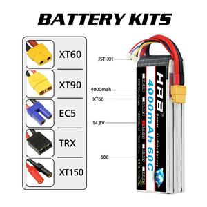 Image 3 - HRB RC Lipo Battery 3S 4S 5S 6S 4000mah 14.8v 22.2v Lipo 60C XT60 plug  for rc car boat drone trex 500 550 600E Align helicopter