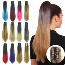 Soowee Straight Clip on Hairpiece Extensions Blonde Clips Po