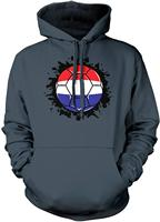 TSDFC Men's Netherlands Flag Soccer Ball, Dutch Hooded Sweatshirt unisex men women hoodie