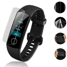 Display-schutzfolien Für Honor Band 5/band 5i band 4 /honor 4 laufende Hydrogel Film Anti Scratch Film für Huawei band 3 4 pro/3e 4e()