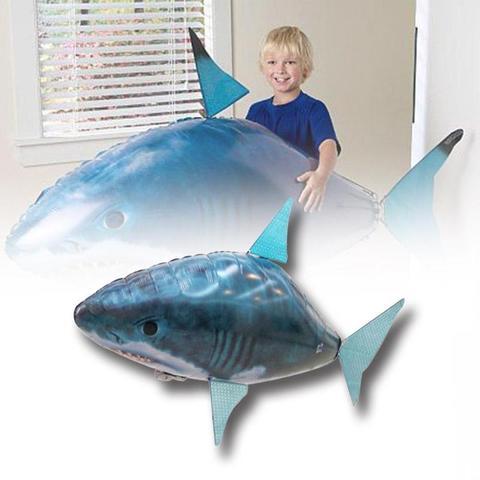 brinquedos de controle remoto tubarao infravermelho inflavel grande voar peixe natacao do ar presentes festa