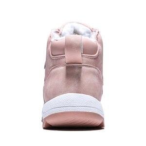 Image 2 - Mùa đông 2020 Ngoài Trời Sang Trọng Ấm Ủng Cho Nữ Da PU Chống Thấm Nước Tuyết Giày Màu Hồng Thời Trang Mắt Cá Chân Giày Người Phụ Nữ Lớn size 42