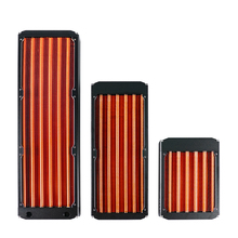 Radiateur de refroidissement tout en cuivre, 120/240/360mm, pour ventilateur dordinateur de 12cm, maître 30mm dépaisseur, argent/noir, rouge V3
