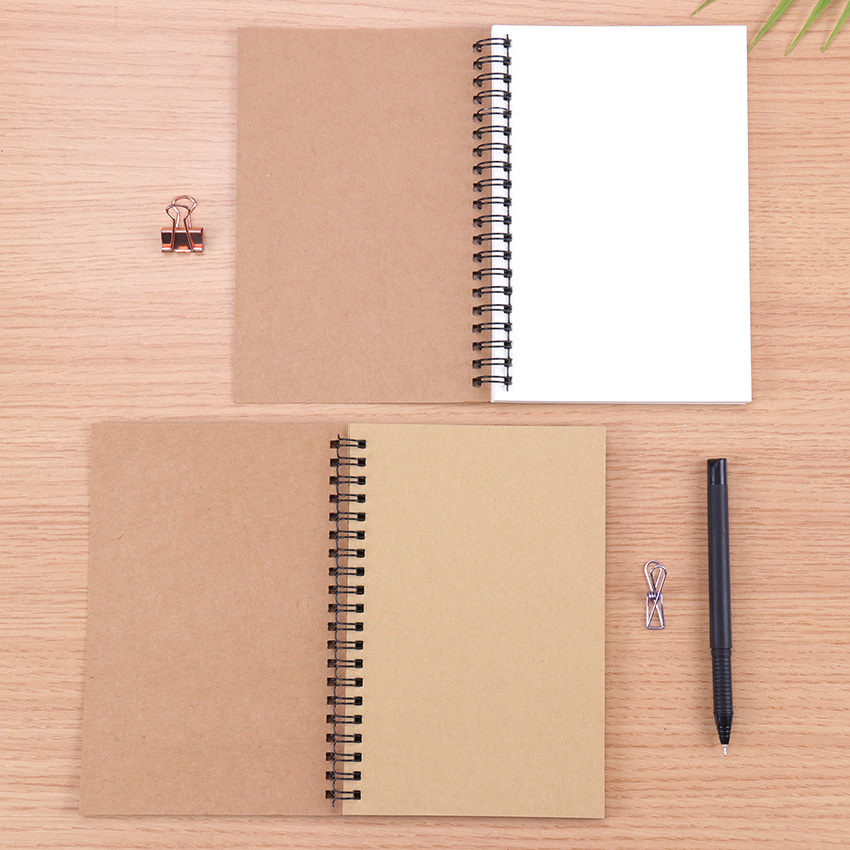 Sketchbook Diary For Drawing Painting Graffiti Soft Cover Black Paper Sketchbook Notepad Notebook Office School Supplies 1PC