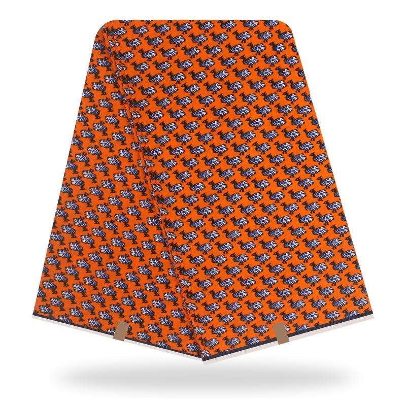 Guaranteed Wax Africain New 2020 New Designer Ankara Fabric African Real Wax Print Fabric 6 Yards One Piece