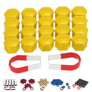 20pcs 17mm Car Plastic Caps Bolts Covers Nuts Alloy Wheel For Skoda, , Mercedes, BMW