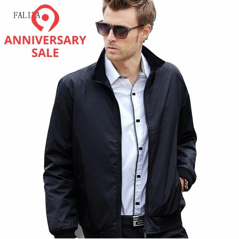 FALIZA 2020 Men Fashion Bomber Jackets Business Casual Clothes Boss Thin Windbreaker Mens Jacket Coat For Spring Autumn SM-JK-Q