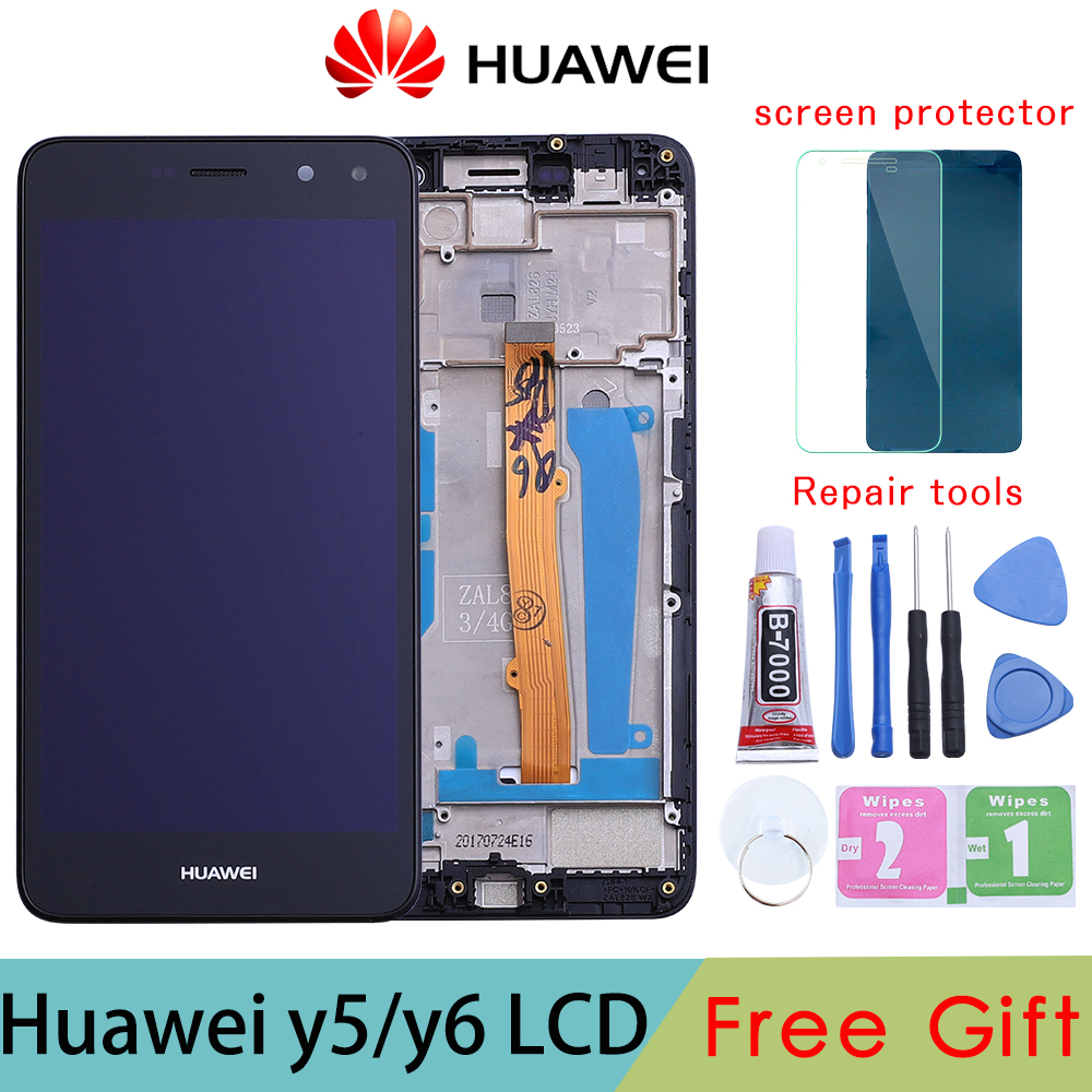 Gold/White/Black For Huawei Nova Young 4G LTE / Y6 2017 / Y5 2017 LCD Display + Touch Screen Digitizer Assembly MYA-L11 MYA-L41