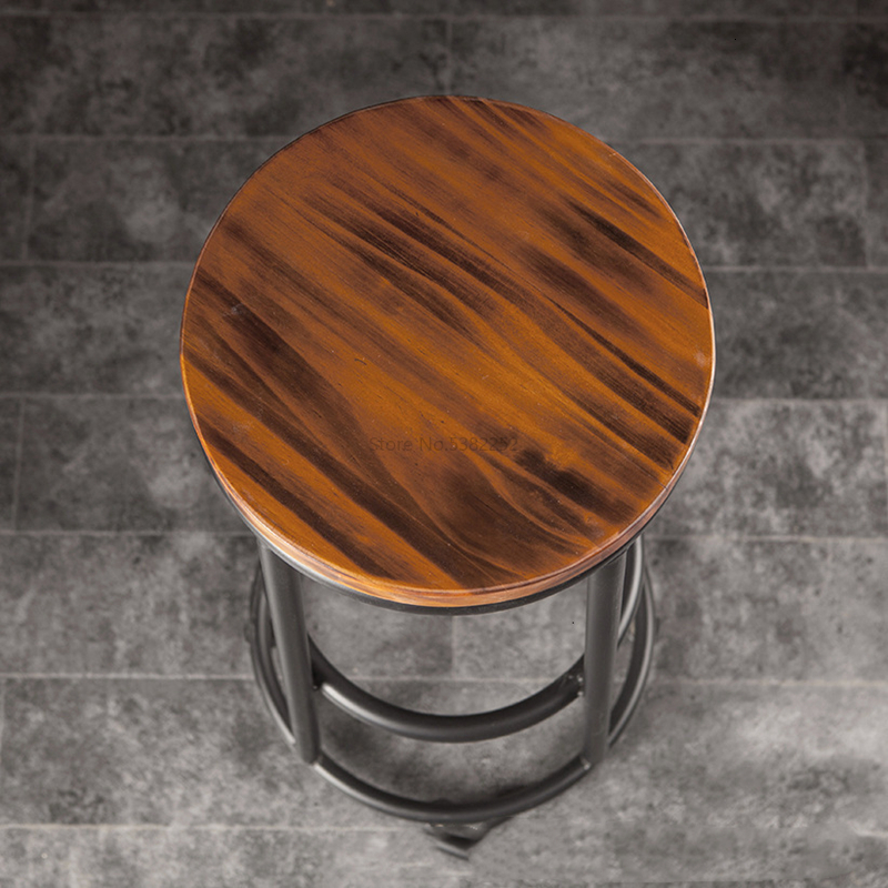 Iron Chair, Counter, Coffee Restaurant, Bar Modern Front Desk, High Stool, Leisure, Stool