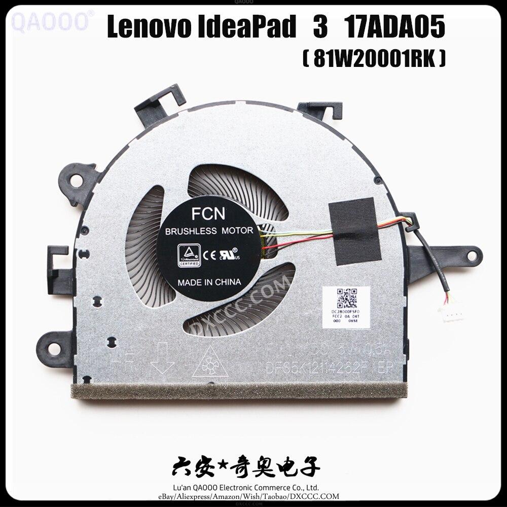 Qaooo ventilador cpu portátil para lenovo ideapad