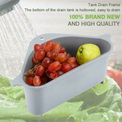 Multifunctional Triangle Storage Holder Drain Shelf Kitchen Multi-purpose Fruit Vegetable Basket