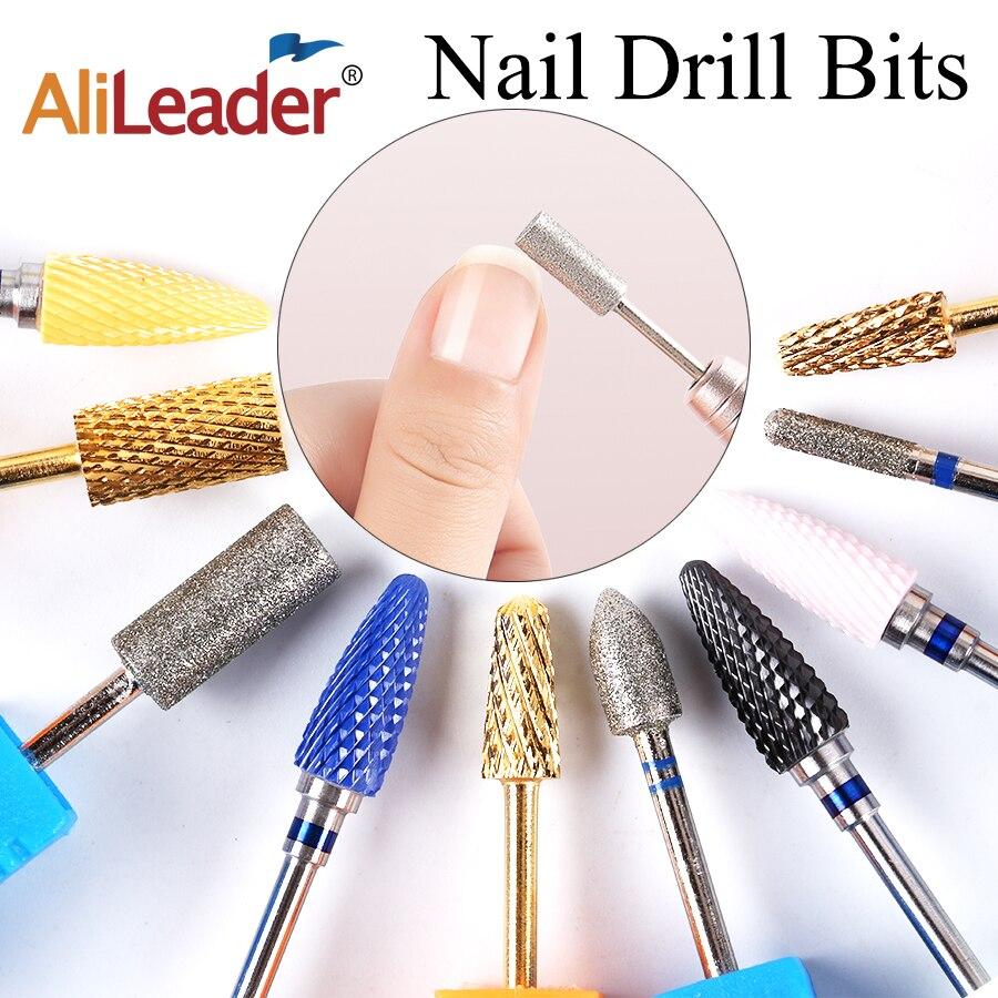 Alileader Ceramic Diamond Nail Drill Bits Set For Drill Machine Professional Manicure Pedicure Acrylic Nail Polishing