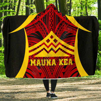 Protect Mauna Kea Polynesian Hawaii style Hooded Blanket 3D full print Wearable Blanket Adult men women Blanket - DISCOUNT ITEM  32 OFF Home & Garden
