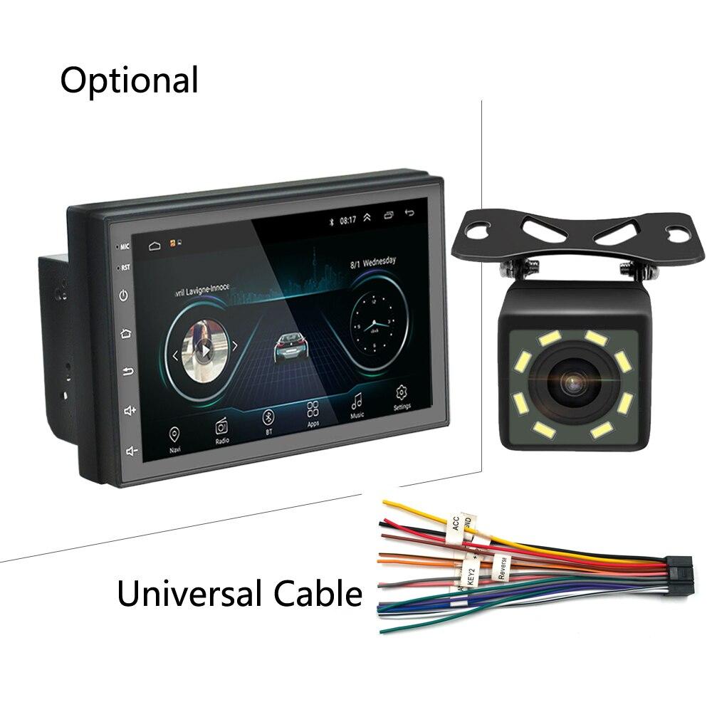 7 дюймов Android 8,1 Универсальное автомобильное радио 2 din android без dvd-плеера GPS навигация WIFI Bluetooth MP5 плеер камера заднего вида