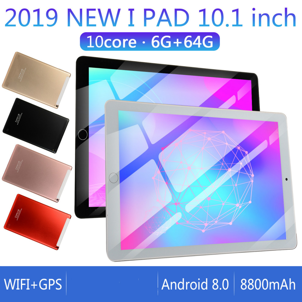 2.5 D Screen Metal 10 Inch Android 8.0 Tablet PC Octa Core RAM 6GB+ROM 64G/16G WiFi Bluetooth GPS