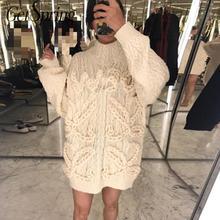 Getвесна, женский свитер, Ретро стиль, водолазка, пуловер, негабаритный, осенние свитера, бежевые, длинные, для девушек,, теплые свободные зимние свитера