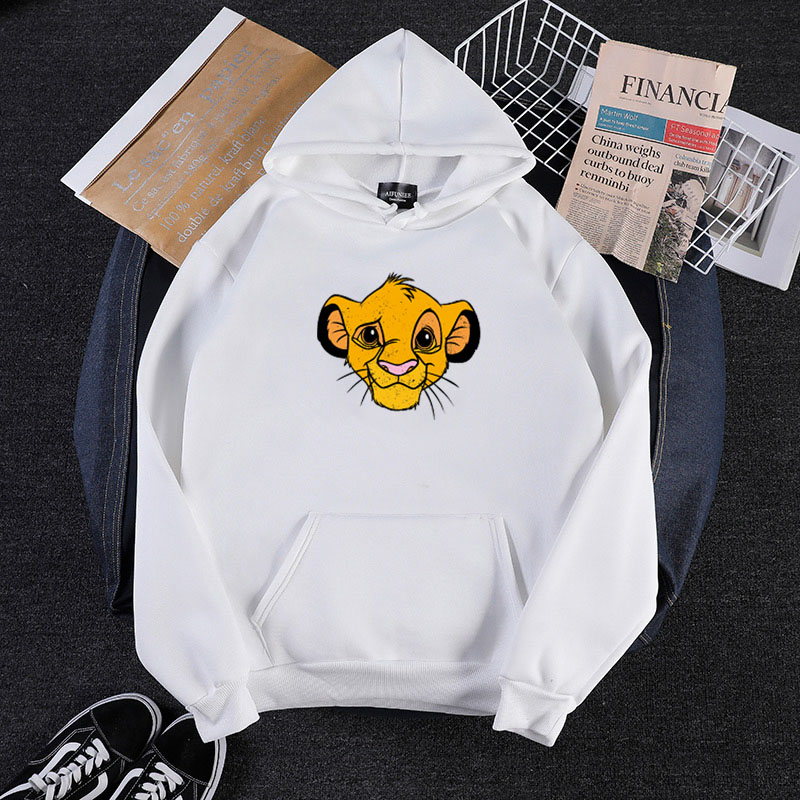 Spring And Autumn Thin Anime Lion Print Fun Men's Hoodie Hipster Street Hip Hop Clothes Oversized Multicolor Harajuku Sweatshirt