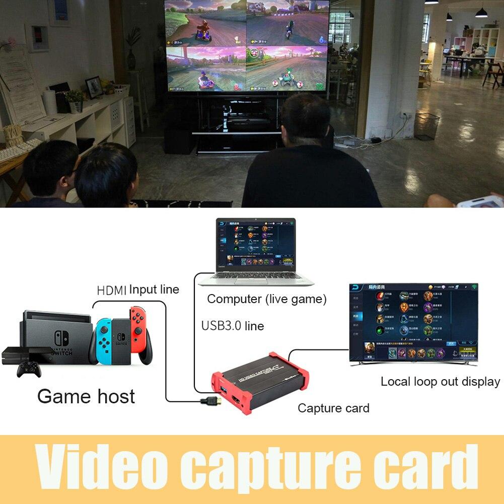Видеокарта HDMI 2020, компьютерные компоненты, игровая запись USB 3,0 HD 1080P