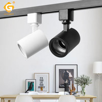 2 3 4 Wire GU10 Track Light Adjustable System Aluminum Housing Rail Lights Stage Show Home Spot Luminaire Clothing Store
