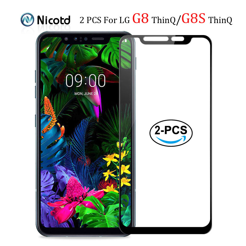 2pcs Full Cover Screen Protector Glass For LG G8S G8 ThinQ 9H Tempered Glass For LG G8s ThinQ G8 ThinQ Screen Protective Film