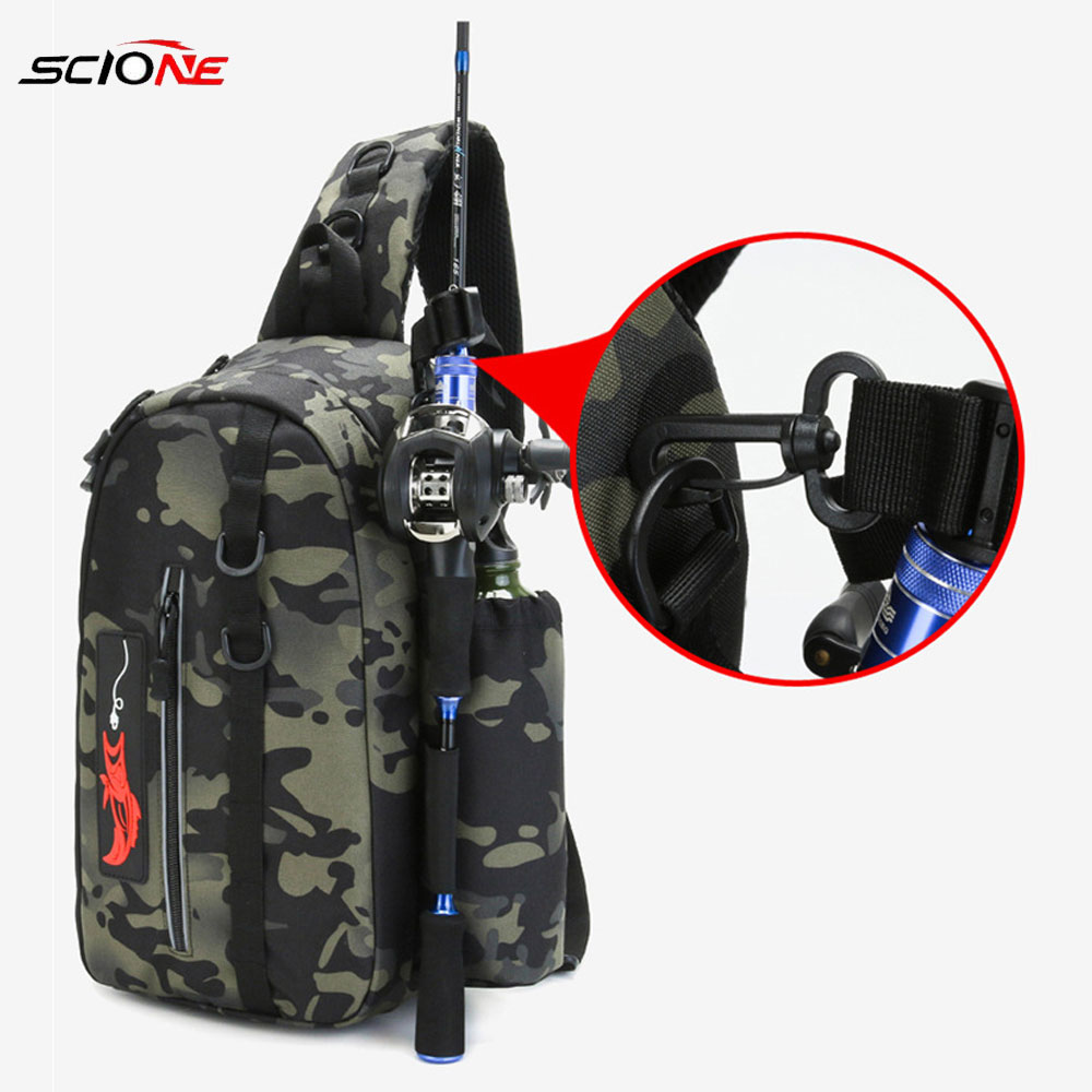 Fishing Bag Folding Shoulder Waist Bag Large Capacity  Outdoor Fishing Tackle Backpack Tackle Storage Travel Carry Bags  X234D
