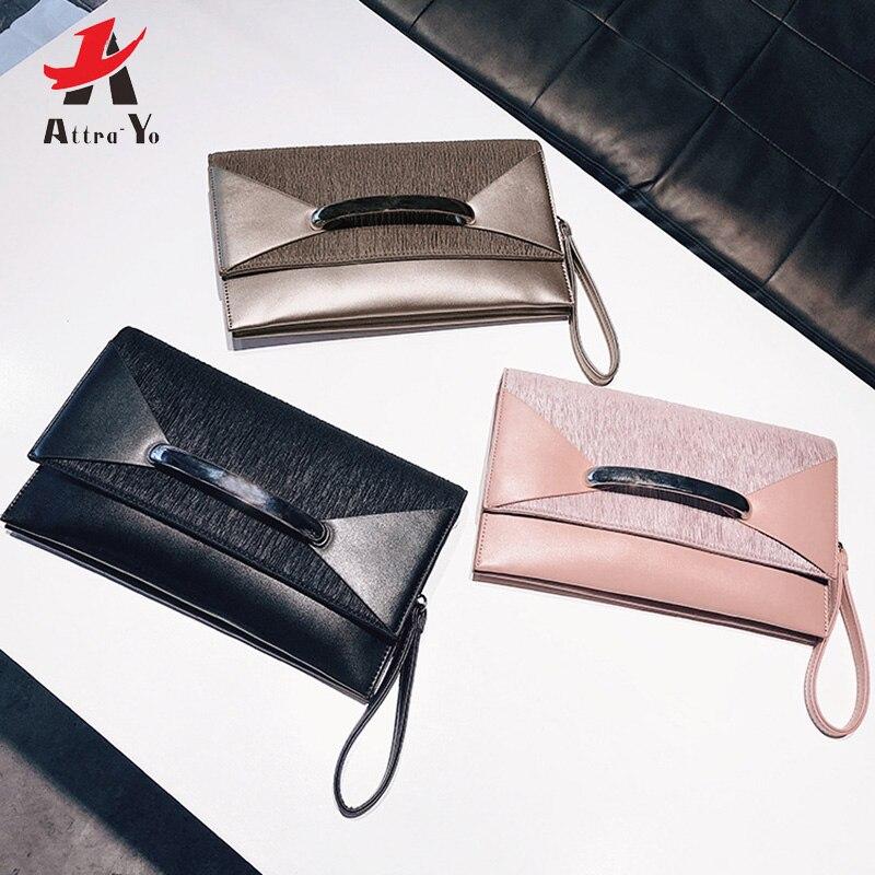 Attra-Yo Clutch-Bag Envelope Ladies Purse Female Shoulder Evening Women Party