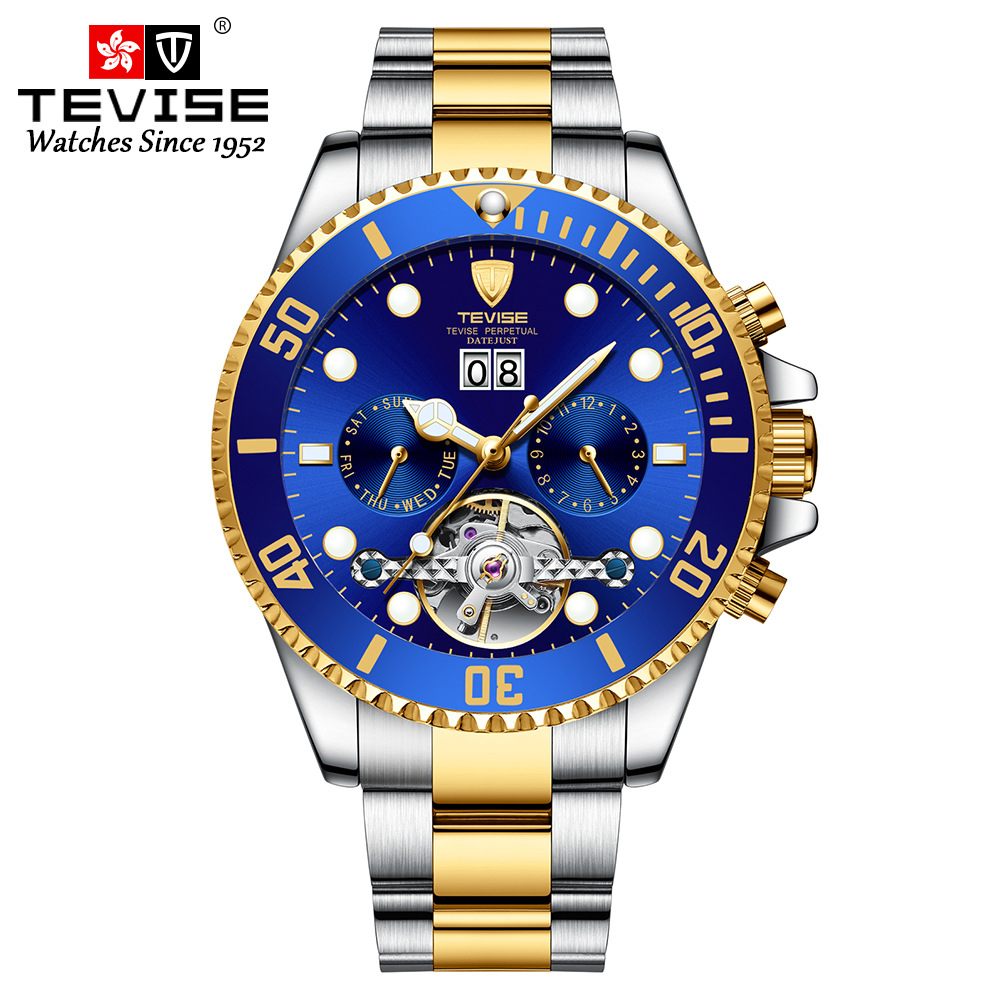 TEVISE 2020 Mens Watches Top Brand Luxury Business