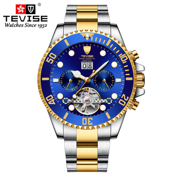 TEVISE 2020 Men's Watches Top Brand Luxury Business Automatic Clock Men Tourbillon Waterproof Mechanical Watch Relogio Masculino