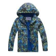 Hooded Waterproof Warm Baby Girls Boys Jackets Printed Child Coat Kids Outfits Polar Fleece Children Outerwear For 110-150cm цены