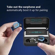 6D Stereo 5.0 Bluetooth LED Display Waterproof Earphones Earphone Wireless Earphones With 1200mAh Power Bank Holder Box