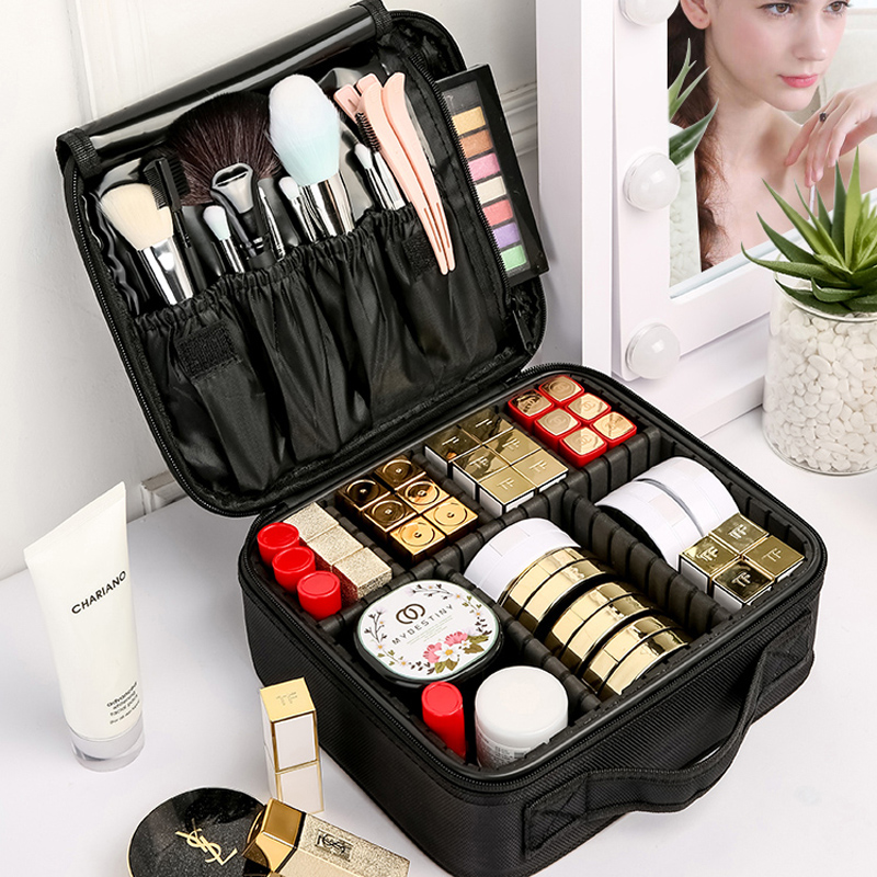 LIKETHIS 2019 Cosmetic Bag Toiletry Organizer Six Partition Women Travel Make Up Cases Cosmetics Suitcases For Makeup X3235