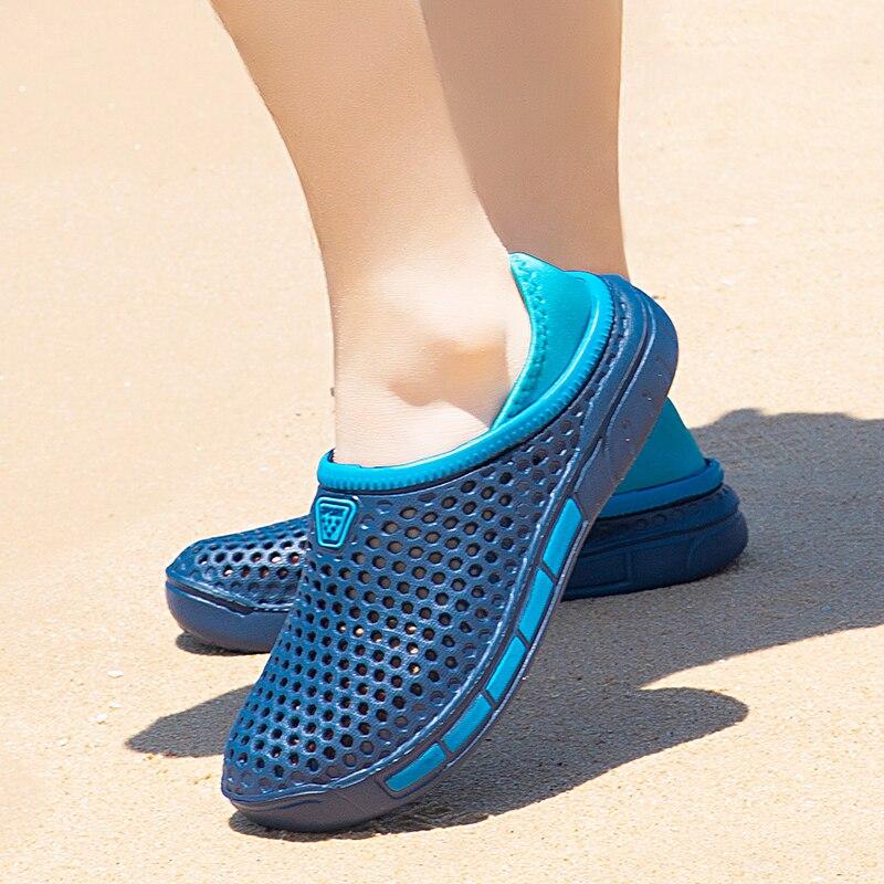 Купить удобные мужские сандалии сабо; летняя уличная пляжная обувь;