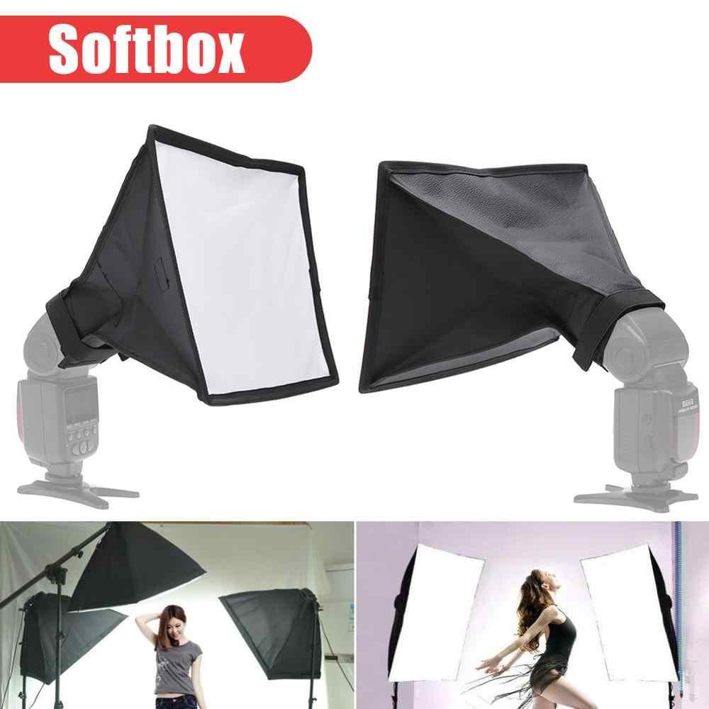 Multi-fonction Portable photographie Flash diffuseur Softbox pratique Durable Speedlight boîte à lumière souple universel 20x30cm