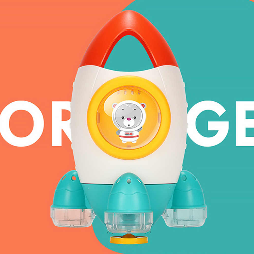 Детская игрушка для ванной, ванна, вода, забавный пляж, вращающаяся вода, ракета, Детская ванна, игрушка для малышей, детская вода, пляж, игрушки, горячая игрушка J74