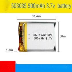 1 pièces 503035 3.7v 500mah lithium polymère batterie 3 7V volts li po ion lipo batteries rechargeables pour dvd GPS navigation