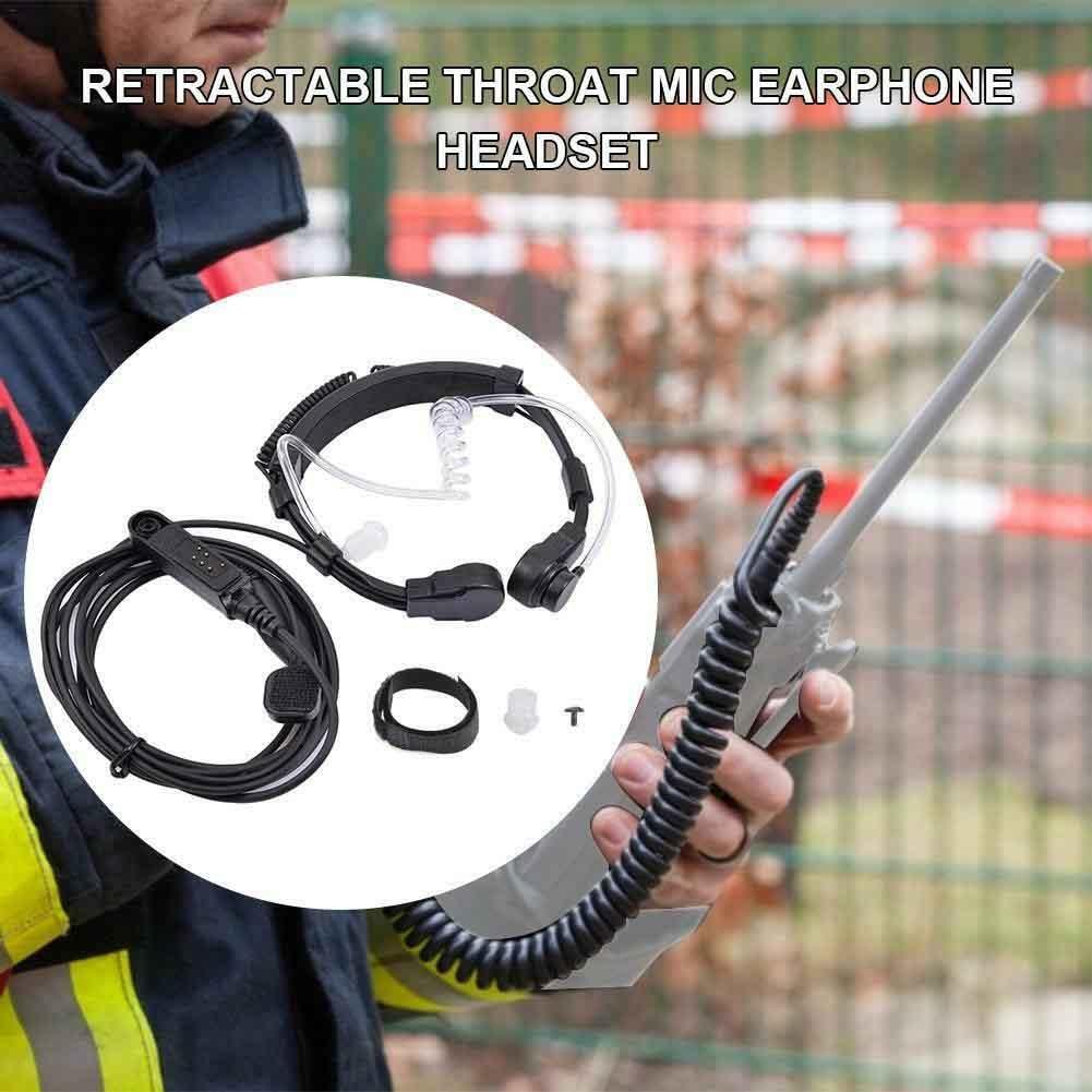 Air Acoustic Tube Waterproof Radio Retractable PTT Covert Walkie Talkie Earphone Throat Mic Accessories For Baofeng A58 UV-9R