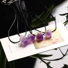 Pendentif améthyste en cristal naturel, 1 pièce, pierre précieuse violette, réparation du Quartz, baguette en Fluorite, pierre naturelle, cristal unique