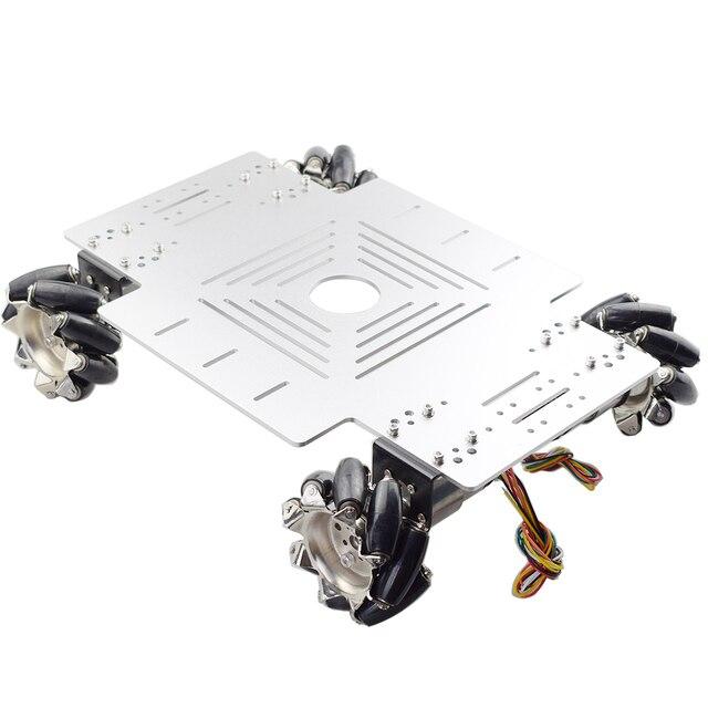 20KG Big Load 4WD All Metal Mecanum Wheel Robot Car Chassis Kit Platform with DC 12V Encoder Motor for Arduino DIY Project