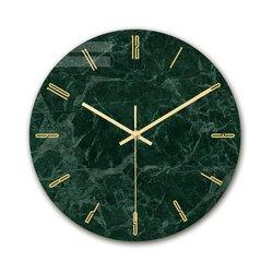 Nowoczesne oświetlenie luksusowy zegar ścienny marmur tekstury zegar dekoracja do domu do sypialni zegar akrylowy trwały druk Tv dekoracja ścienna
