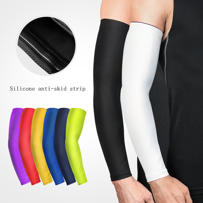 Arm-Warmer Volleyball Arm-Compression-Sleeve Sunscreen-Bands Cycling Uv-Protection Running