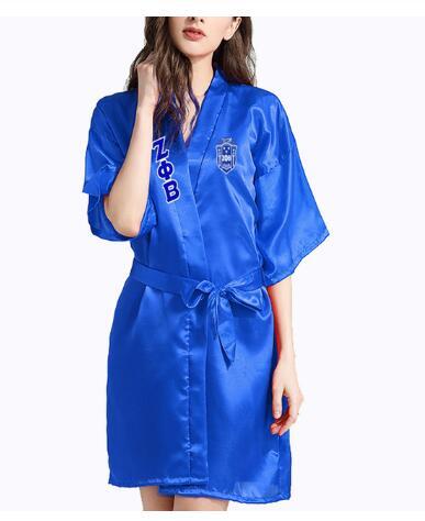 ZPB Zeta Phi Beta Kimono  Robe