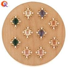 Design cordial 50 pçs 17*22mm acessórios de jóias/feitos à mão/encantos de cristal/forma oval/descobertas brinco/diy fazendo/cz conectores