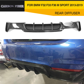 M4 Carbon Fiber / ABS Rear Diffuser Bumper Lip For BMW 4 Series F32 F33 F36 M Sport 435i 440i Coupe Hatchback 2013-2019 image
