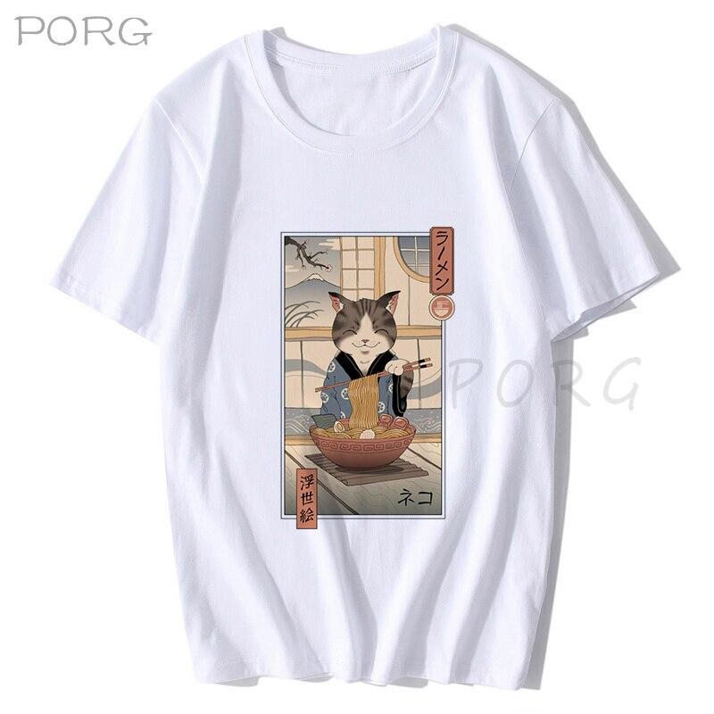 Men Catana Cool Summer Loose Men/Women T Shirt Casual Short Sleeve Cat Print Anime Tshirt Japanese Summer T-Shirt Tops Tee Shirt 6