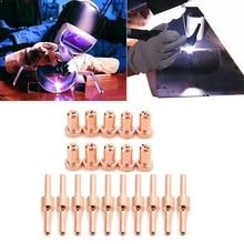 20pcs Red Copper Extended Long Plasma Cutter Tip Electrodes&Nozzles Kit M17E