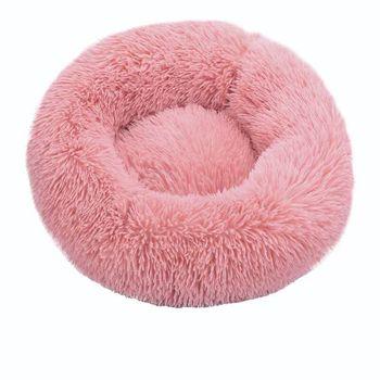 Lit de chat rond maison douce longue en peluche meilleur lit de chien pour chiens panier
